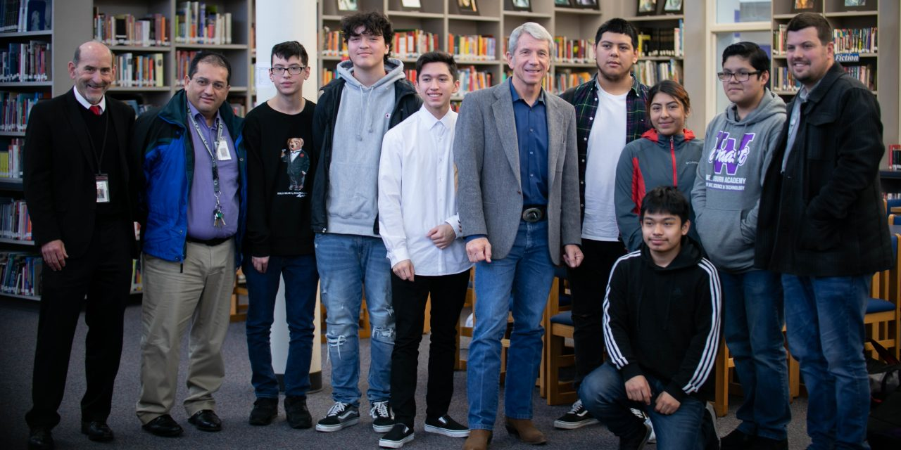 U.S. Representative Kurt Schrader visits students